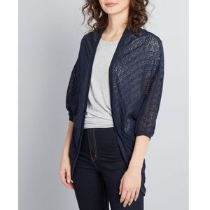 Modcloth Personal Cocoon Cardigan Navy Small / Med